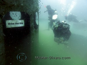 Wreck divers inside only.