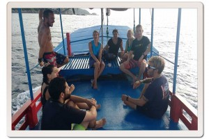 Prep Talk on the Master Divers Boat