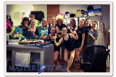 The Ladies team at Master Divers