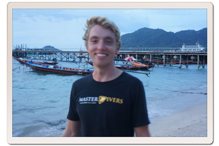Kevin on completion of his IDC at Master Divers, Koh Tao