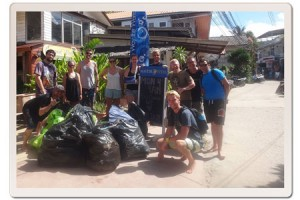 112kgs of rubbish and recyclable's collected by Master Divers in Koh Tao, Thailand
