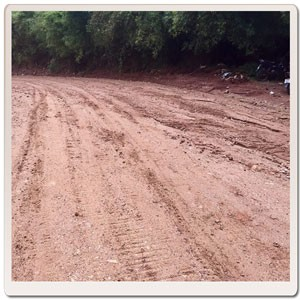 When concrete turns to dirt track